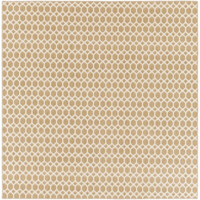 Casper Neutral Indoor/Outdoor Area Rug Rug Size: Square 6