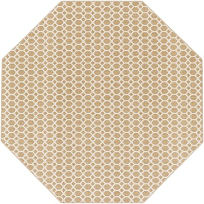 Casper Neutral Indoor/Outdoor Area Rug Rug Size: Octagon 6