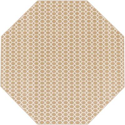 Casper Neutral Indoor/Outdoor Area Rug Rug Size: Octagon 6