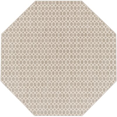 Casper Gray Indoor/Outdoor Area Rug Rug Size: Octagon 4