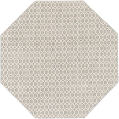 Casper Gray Indoor/Outdoor Area Rug Rug Size: Round 8