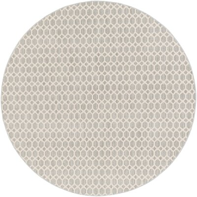 Casper Gray Indoor/Outdoor Area Rug Rug Size: Round 6