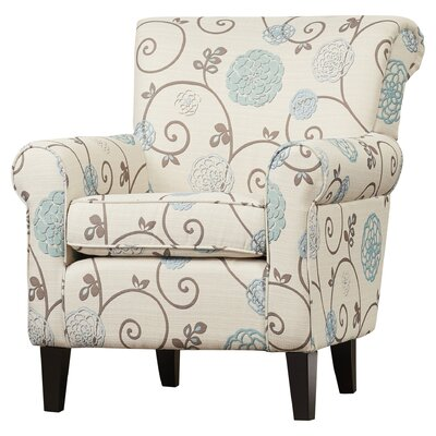 Wadham Flowered Upholstered Arm Chair