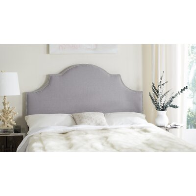 Caswell Upholstered Headboard Size: Queen, Nailhead Finish: Silver, Color: Arctic Grey