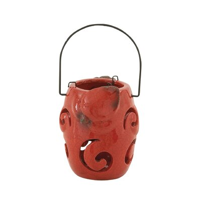 Redding Cardinal Ceramic Lantern