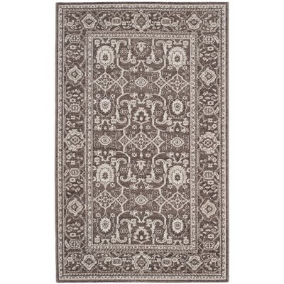 Fleetwood Brown Area Rug Rug Size: 3 x 5