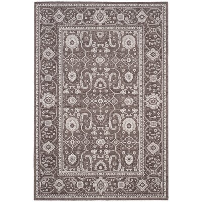 Fleetwood Brown Area Rug Rug Size: 51 x 76