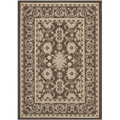 Bexton Chocolate/Cream Indoor/Outdoor Area Rug Rug Size: Rectangle 2 x 37
