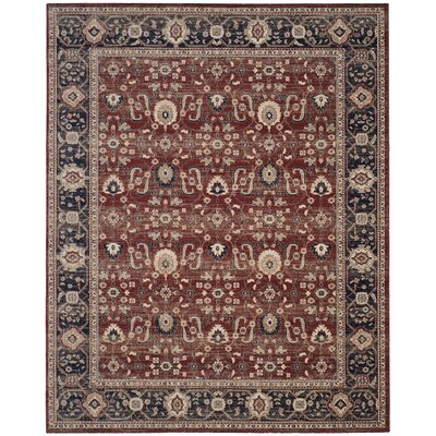 Fleetwood Rust/Navy Area Rug Rug Size: Rectangle 8 x 10