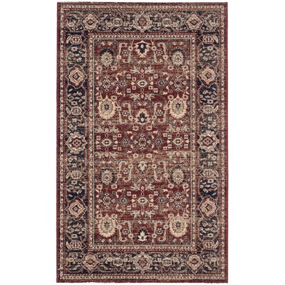 Fleetwood Rust/Navy Area Rug Rug Size: Rectangle 3 x 5