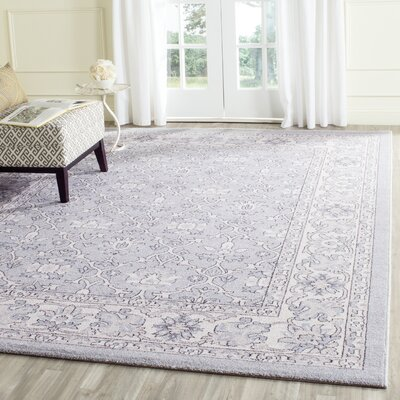 Quentin Road Light Blue / Ivory Area Rug Rug Size: Runner 2 x 8