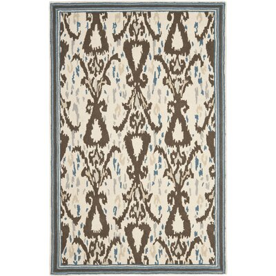 Hand-Loomed Clove Area Rug Rug Size: Rectangle 4 x 6