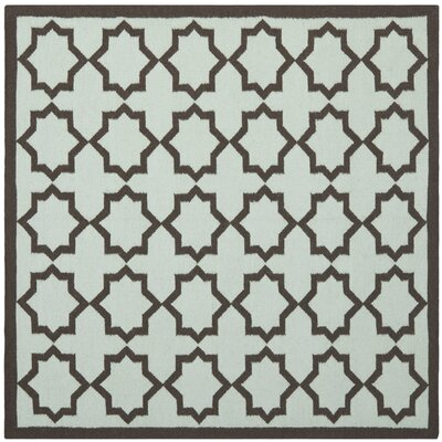 Warren Handmade Light Blue Area Rug Rug Size: Square 6 x 6