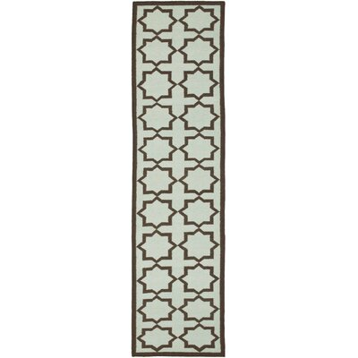 Warren Handmade Light Blue Area Rug Rug Size: Runner 26 x 8