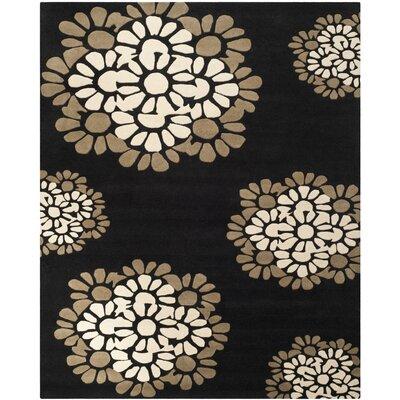 Martha Stewart Hand-Tufted Black Area Rug Rug Size: 96 x 136