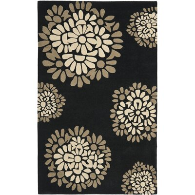 Martha Stewart Hand-Tufted Black Area Rug Rug Size: 4 x 6