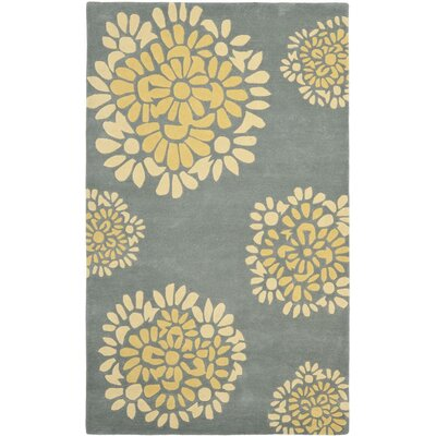 Martha Stewart Hand-Tufted Cement Area Rug Rug Size: Runner 23 x 10