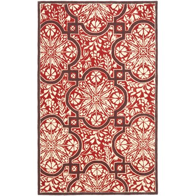 French Hand-Woven Vermillon Area Rug Rug Size: 5 x 8