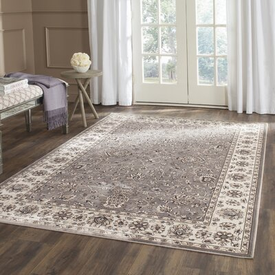 Hewitt Grey / Ivory Area Rug Rug Size: Rectangle 4 x 57