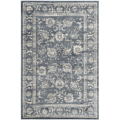 Bainsby Dark Grey / Cream Area Rug Rug Size: Rectangle 9 x 12
