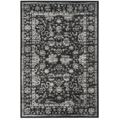 Bainsby Black/Light Grey Area Rug Rug Size: Rectangle 23 x 39