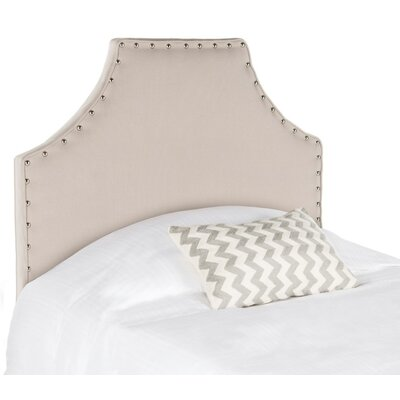 Bainsby Upholstered Panel Headboard Size: Twin, Color: Taupe