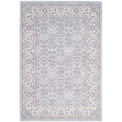 Quentin Road Light Blue / Ivory Area Rug Rug Size: Rectangle 51 x 76