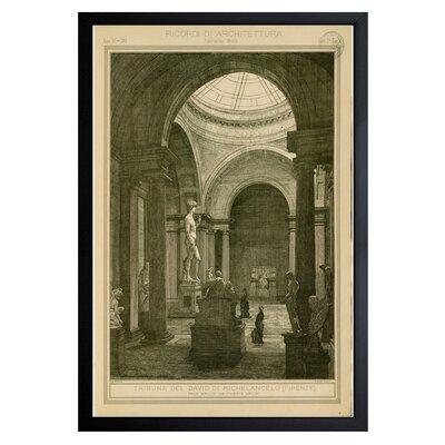 Tribuna del David di Michelancelo Framed Graphic Art Size: 24