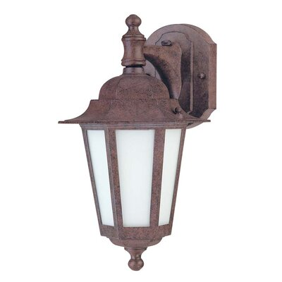 Mayer 1-Light Outdoor Wall Lantern Finish: Old Bronze