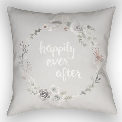 Lyle Indoor/Outdoor Throw Pillow Size: 18 H x 18 W x 4 D, Color: Gray/White