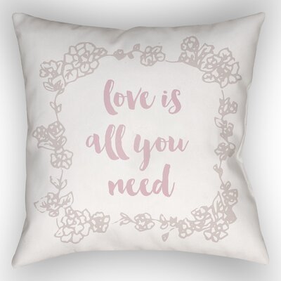 Lyle Indoor/Outdoor Throw Pillow Color: White, Size: 20 H x 20 W x 4 D