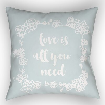 Lyle Indoor/Outdoor Throw Pillow Size: 20 H x 20 W x 4 D, Color: Blue