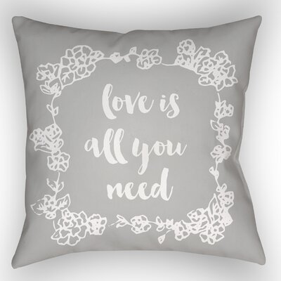 Lyle Indoor/Outdoor Throw Pillow Size: 20 H x 20 W x 4 D, Color: Gray