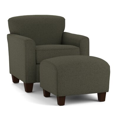 Arm Chair and Ottoman Upholstery: Basil Gray