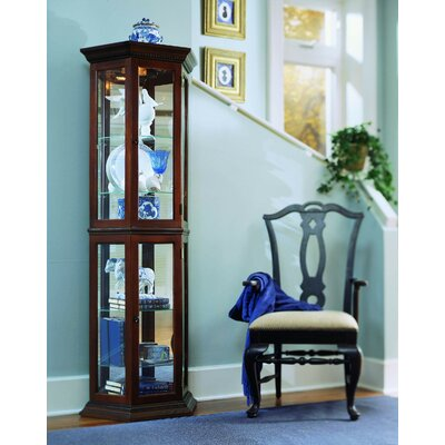Hollingdon Lighted Curio Cabinet Color: Nut Brown