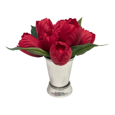 Tulip Arrangement in Cup