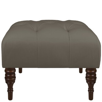Twill Tufted Ottoman Upholstery: Twill Grey