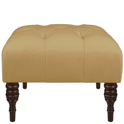 Twill Tufted Ottoman Upholstery: Twill Khaki
