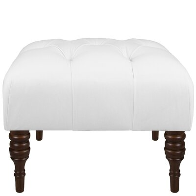 Twill Cocktail Ottoman Upholstery: Twill White