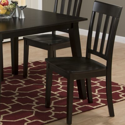 Antrim Solid Wood Dining Chair (Set of 2) Finish: Espresso