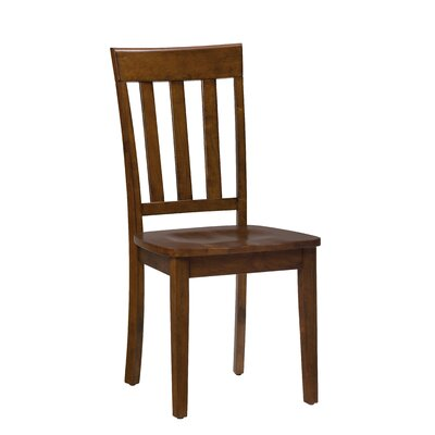 Antrim Solid Wood Dining Chair (Set of 2) Finish: Caramel