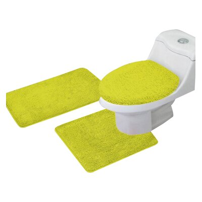Arata 3 Piece Bath Mat Set Color: Yellow