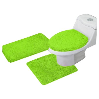 Arata 3 Piece Bath Mat Set Color: Lime