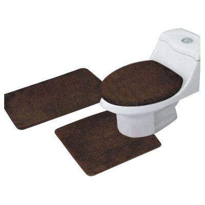 Arata 3 Piece Bath Mat Set Color: Chocolate