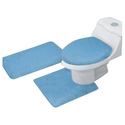 Arata 3 Piece Bath Mat Set Color: Light Blue
