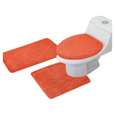 Arata 3 Piece Bath Mat Set Color: Orange