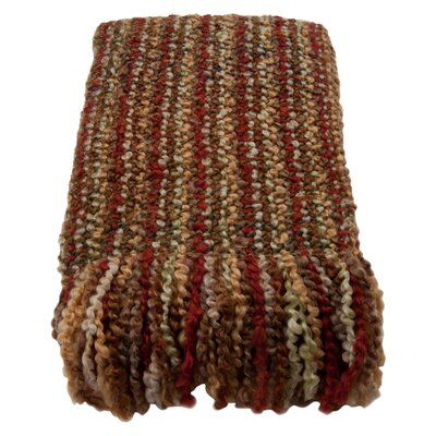 Ardmore Striped Woven Throw Blanket Color: Harvest