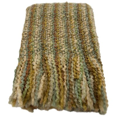 Ardmore Striped Woven Throw Blanket Color: Pear