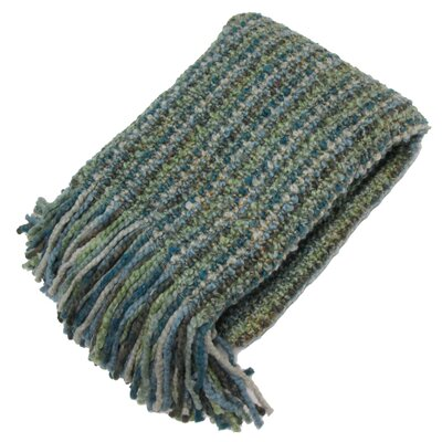 Ardmore Striped Woven Throw Blanket Color: Seaglass