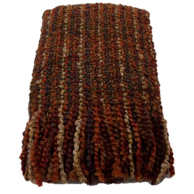 Ardmore Striped Woven Throw Blanket Color: Russet